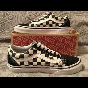Vans black & white checkered shoes